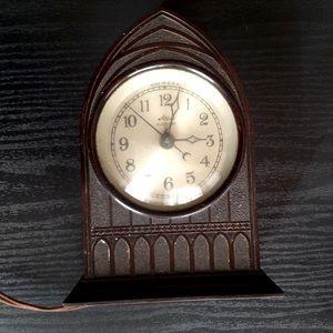 "Vintage Cathedral Mantle Clock ""Atlas"" Electric"